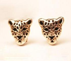 Punk Leopard Head Earring